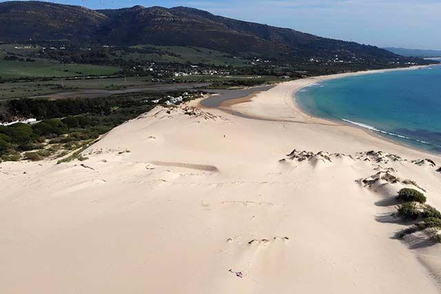 vista aerea de la playa de bolonia