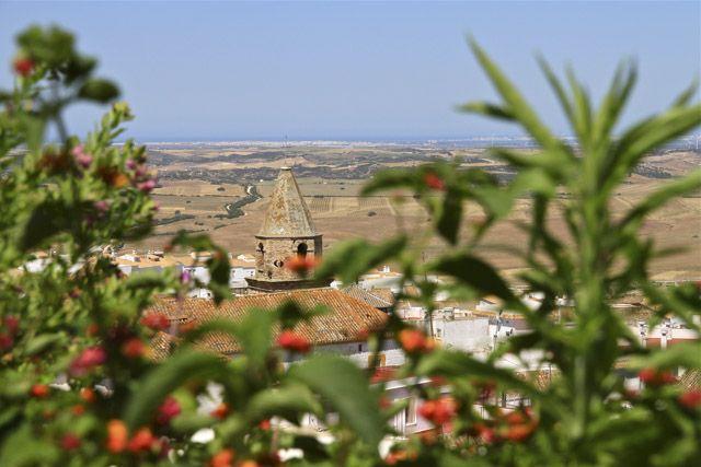 La vista de Medina Bodas en Andalucia. Restaurante.