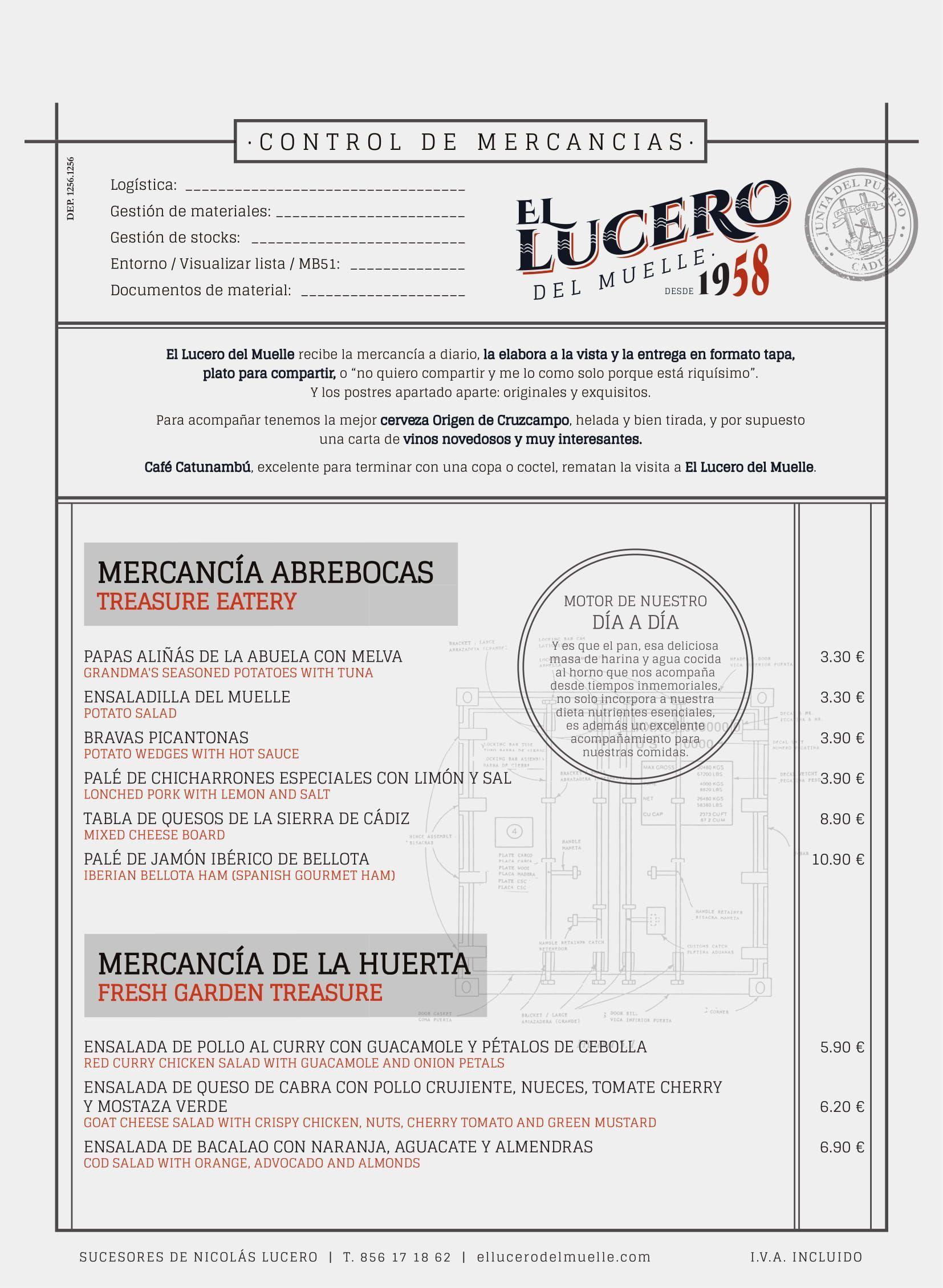 La nueva carta de El Lucero del Muelle sorprenderá tanto a clientes habituales como a nuevos. Déjate sorprender por una cocina con ingredientes mediterráneos.