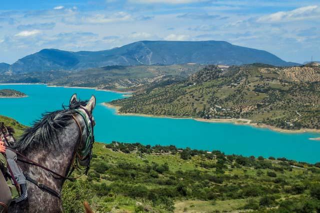 Una de las formas más naturales de conocer la sierra de Cádiz es a lomos de un caballo.