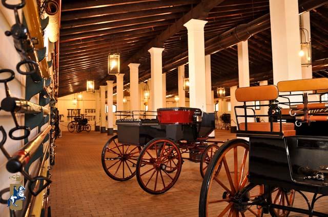 En el Museo del Enganche de la Real Escuela Andaluza de Arte Ecuestre se exhibe gran parte de su patrimonio, más concretamente guarniciones, los doce carruajes más significativos y caballos de pura raza.