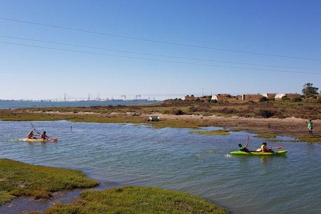 Aquí incluso puedes disfrutar de la Bahía practicando una actividad tan emocionante como piragüismo.