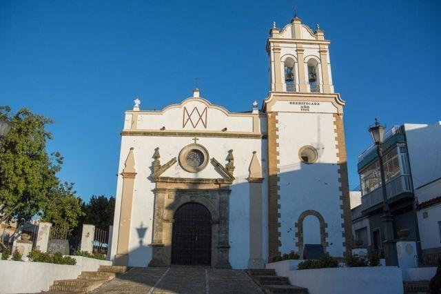 Fachada de la ermita de Palomares en Trebujena.