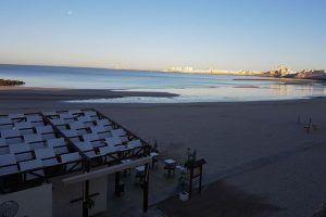 Tirabuzón es un pequeño oasis situado en la arena de la Playa de Santa María del Mar en Cádiz.