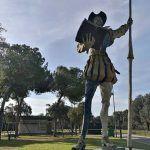 Escultura de El Quijote en el parque del alamillo